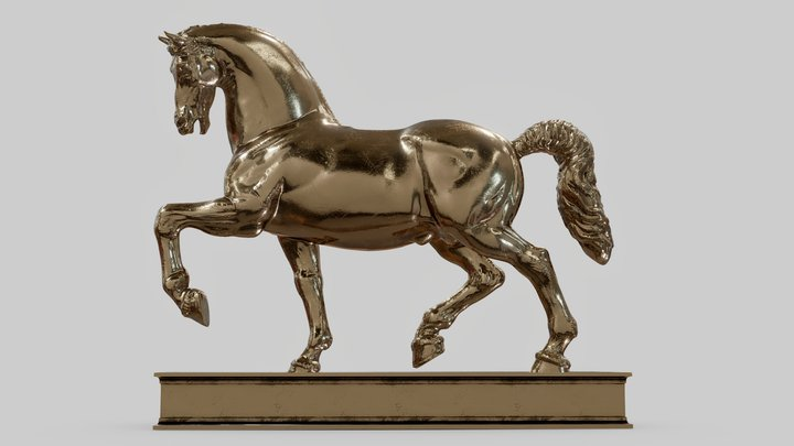 Leonardo da Vinci - Cavallo - AR/VR Ready 3D Model