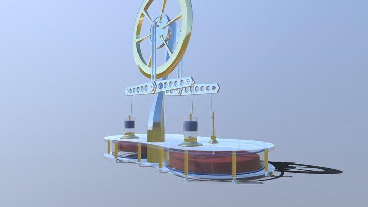 Stirling Engine Parametric Modeling 002 3D Model