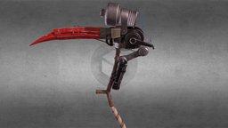 Homemade DYI Mechanical Scythe 3D Model