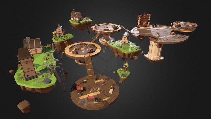 Antistar (GAME), Klinnburg's market 3D Model