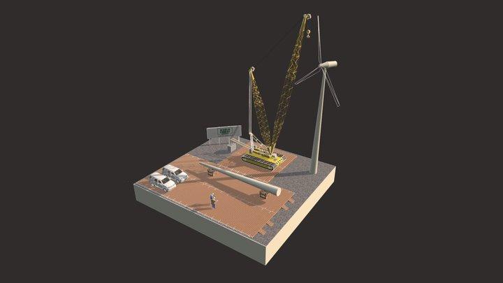 Heavy Lift and Walking Mats & Wind Turbines 3D Model