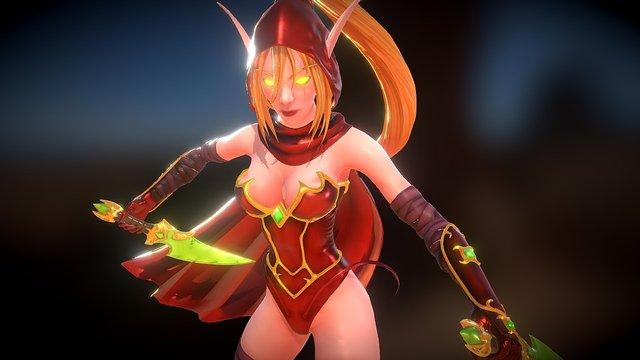 Valeera Sanguinar - Heroes of the Storm 3D Model