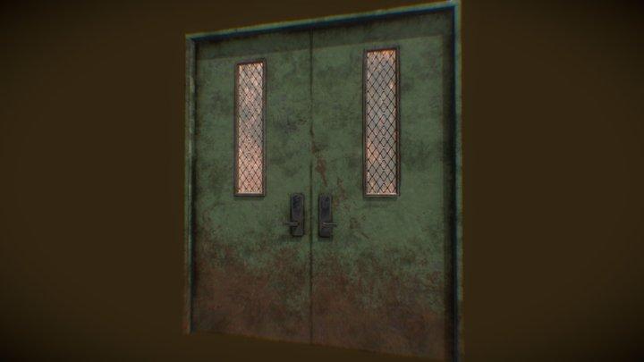 Worn Steel Door 3D Model