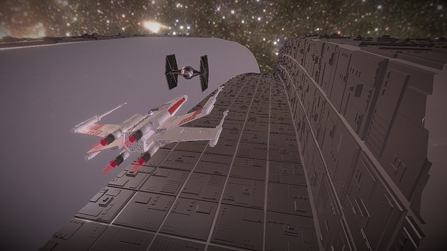 Death Star Trench Run! - animated 3D Model