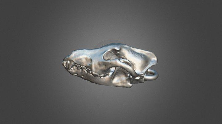 Wolf Pendant 3D Model