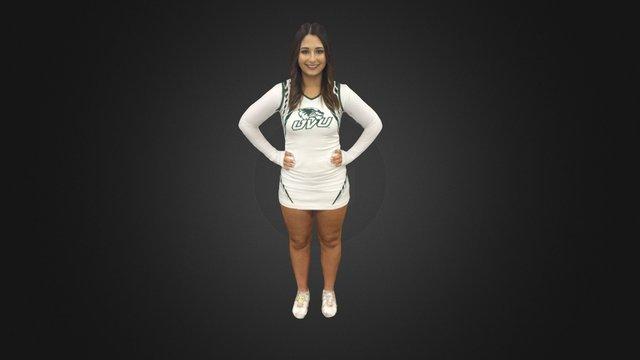 UVU Cheerleader Fullbody 3D Model