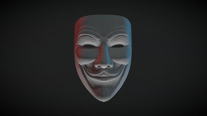 Sculpt January 2018 - 28 Cyber - Anonymous 3D Model