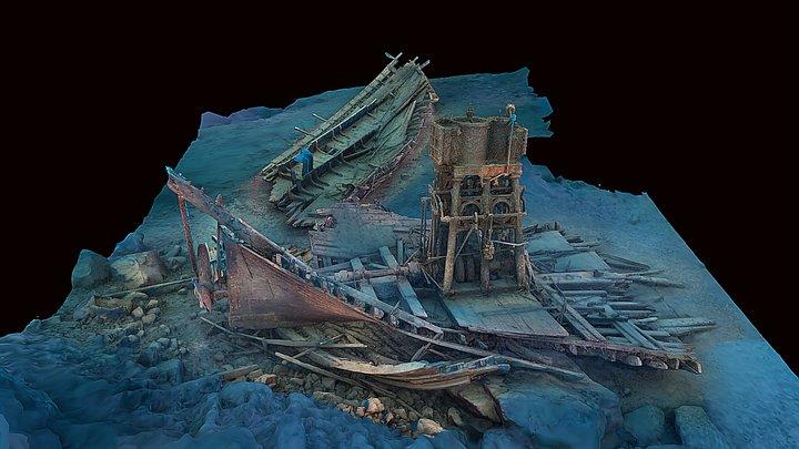 SS Henry Chisholm - Lake Superior 3D Model