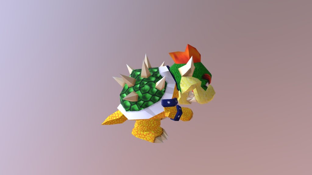 Super Mario 64 Bowser Download Free 3d Model By