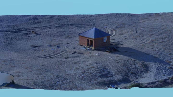 Old Fishermans Hut , Chesil Beach 3D Model
