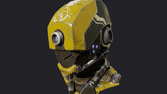 Sci-Fi Robot Helmet 3D Model