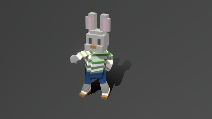 Samba Dancing Bunny 3D Model