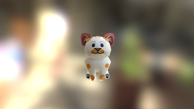 Cartoon Cat 3D Model