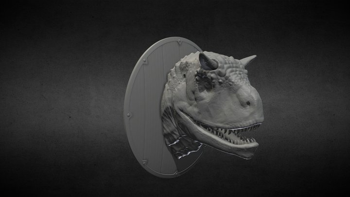 Dragon head hunting trophies. 3D Printable 3D Model