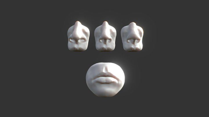 Day 01 - Mouth & Nose  #SculptJanuary18 3D Model