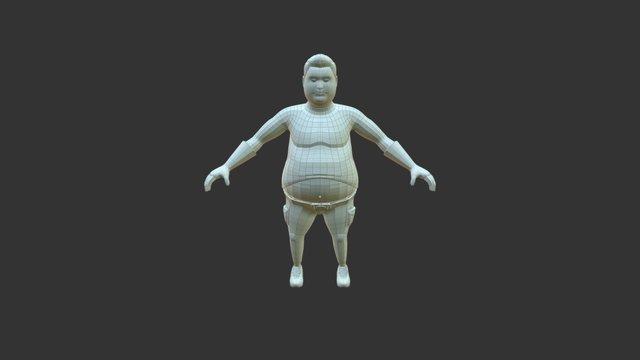 Big Belly with Belt 3D Model