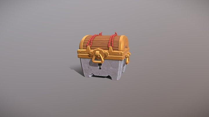 Treasure Chest Loot Box FX 3D Model
