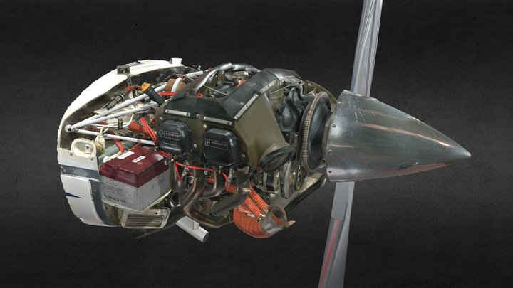 Diamond DA40 engine 3D Model