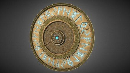 Rune Shield 3D Model