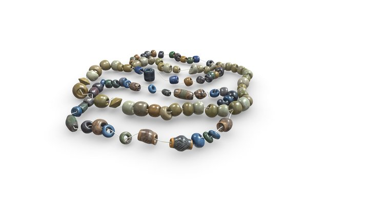 Colored beads, painted glass 3D Model