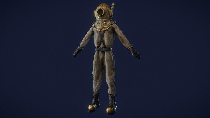 The Diver 3D Model