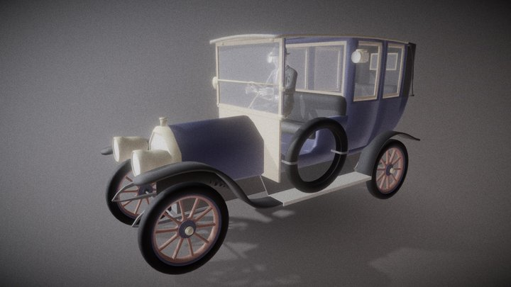 1920MercedesTourenwagen 3D Model