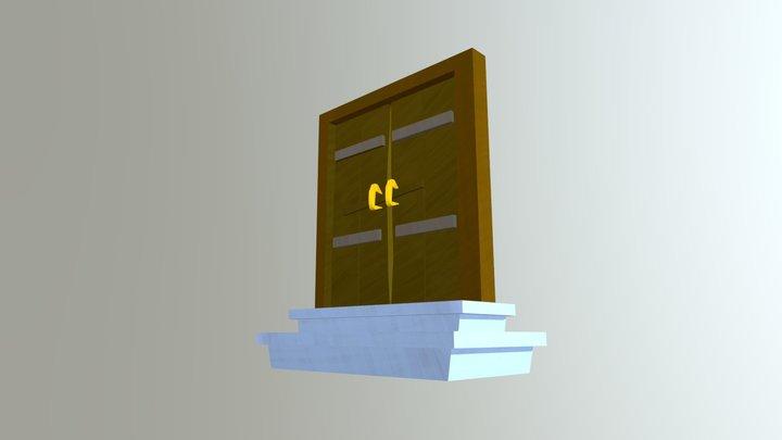 Game Prop Old Door 3D Model