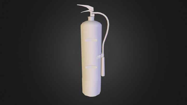 Fire paper extinguisher 3D Model