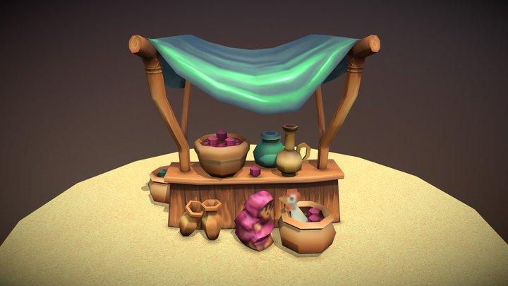 Agraba Market Shop 3D Model