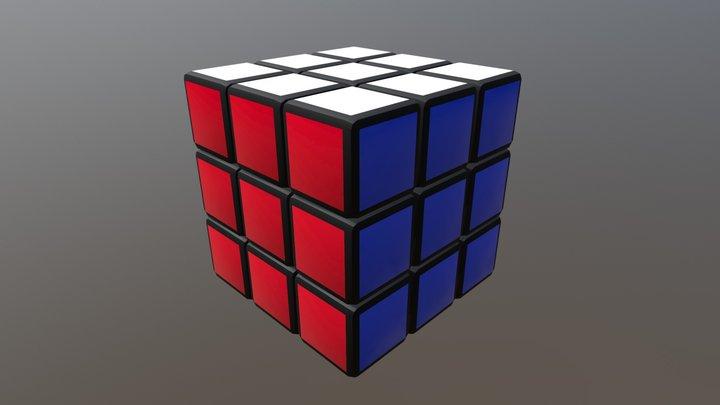 3x3 Cube Solve 3D Model