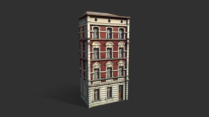Apartment House #101 Low Poly 3d Model 3D Model