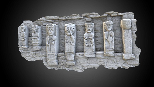 White Island Carved Figures 1-7 3D Model