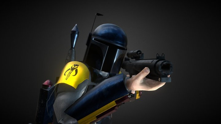 Mandalorian - Star Wars - Old 3D Model