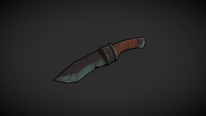 Fantasy Dagger (Concept by Becca Hallstedt) 3D Model