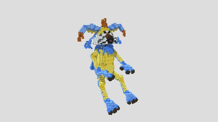 Galaxy's Edge Blue Kowakian Monkey Lizard Voxel 3D Model