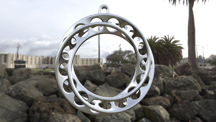 Moebius Band 30mm With Loop 3D Model