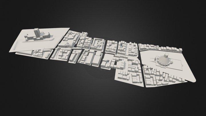 Hope Street, Liverpool 3D Model