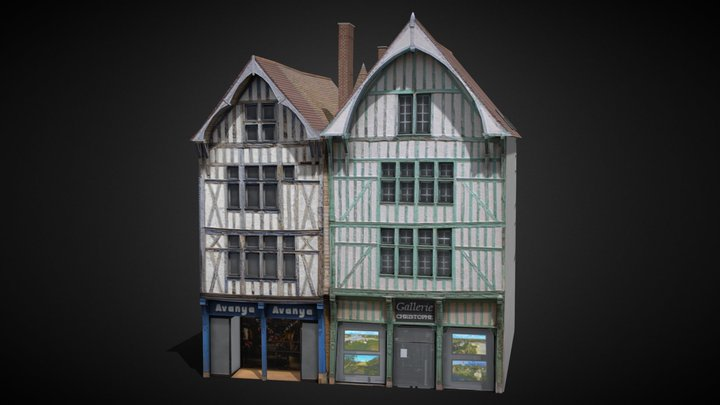 Troyes Shop 8 [France] 3D Model