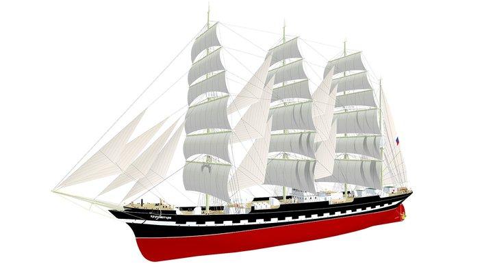 Kruzenshtern 3D Model