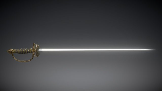 18th Century Court Sword 3D Model