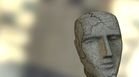 Faceted Head in Progress 3D Model