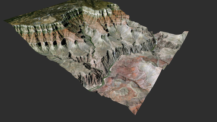 Grand Canyon - Bright Angel trail 3D Model