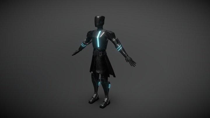 Future Police Knight 3D Model