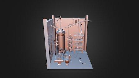 Low Poly Diorama 3D Model