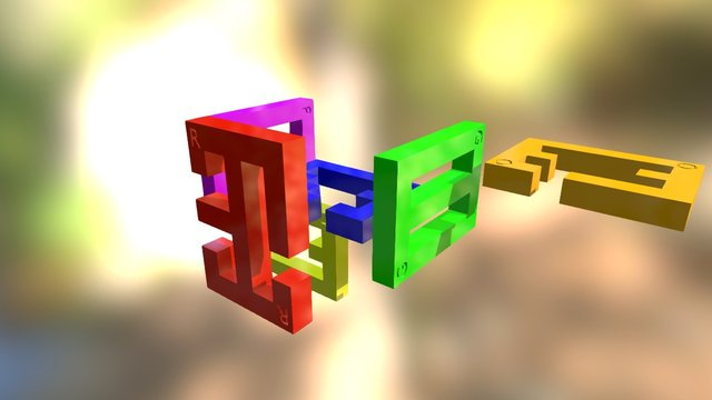 Gordian Knot Assembly 3D Model