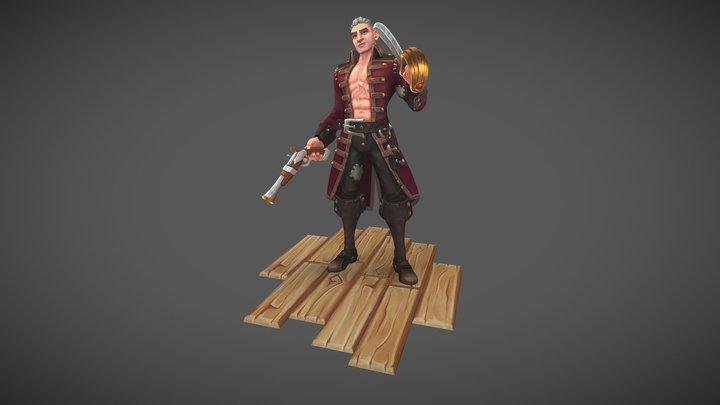 Scallywag Steve 3D Model