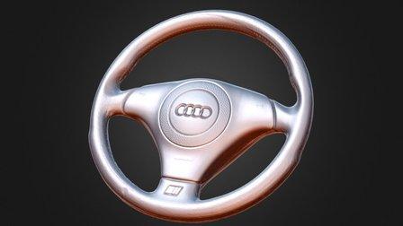 Audi S4 B5 steering wheel 3D Model