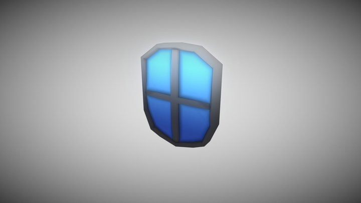 Low Poly Squire Shield 3D Model
