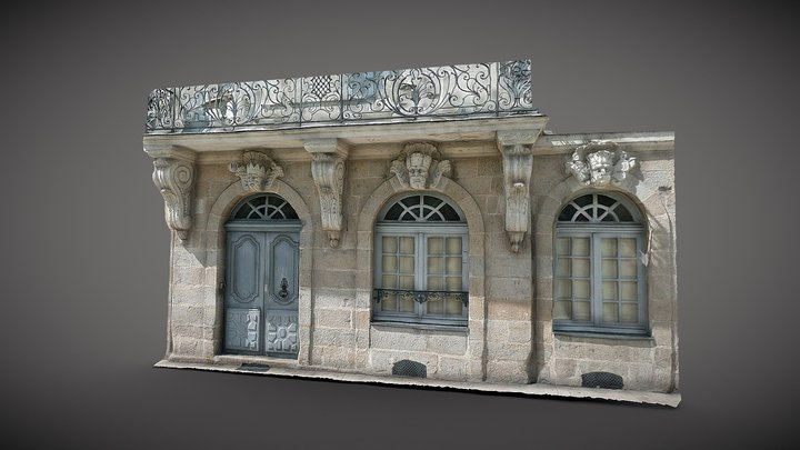 Immeuble Feydeau XVIIIe s - Nantes (France) 3D Model