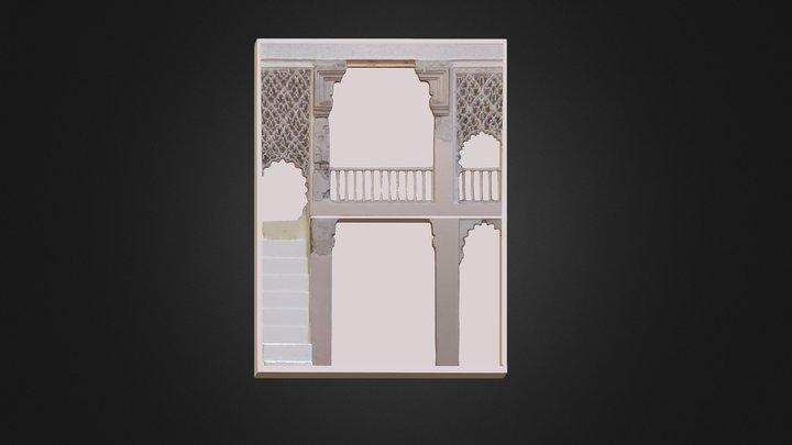 Pórtico almohade de la casa 10 de Siyâsa 3D Model